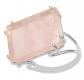 Shine Jewel 3-Dimensional Handmade  Rose Quartz Ring