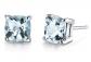 Peora 14K White Gold Cushion-Cut Aquamarine Earrings