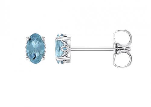 Black Bow Jewelry & Co Aquamarine Stud Earrings