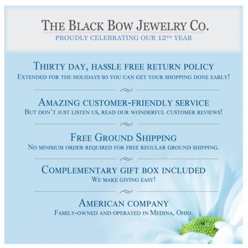 Black Bow Jewelry & Co Guarantee
