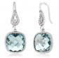 Gem Stone King Simulated Aquamarine Earrings
