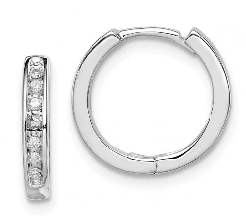 Black Bow Jewelry & Co Diamond Cartilage Hoop Earrings