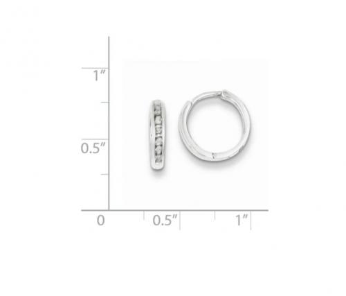 Black Bow Jewelry & Co Diamond Cartilage Hoop Earrings Size