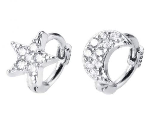 Dtja Star Moon Cartilage Hoop Earrings