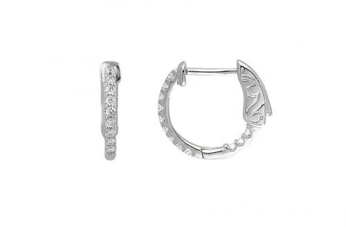 Black Bow Jewelry & Co 14k White Gold Diamond Cartilage Earrings