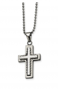 Black Bow Jewelry & Co. Layered Cross Necklace