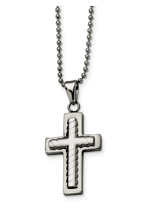 Black Bow Jewelry & Co Layered Cross Necklace