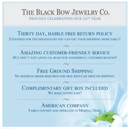 Black Bow Jewelry & Co Warranty