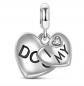 Jeulia 'I Love My Dog' Dog Jewelry Charm