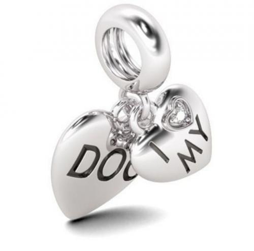 Dog jewelry charm detail