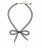 Betsey Johnson Mesh Bow Necklace