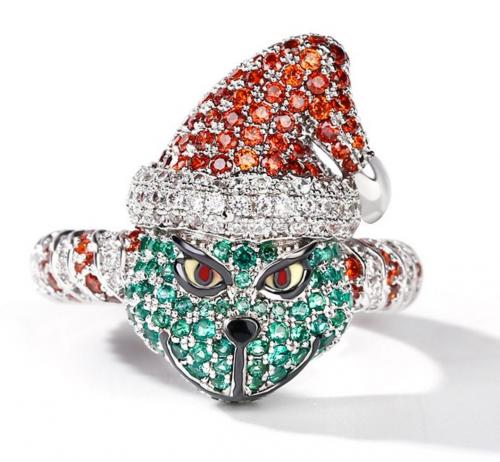 Jeulia Christmas Ring