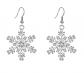 EVER FAITH Austrian Crystal Snowflake Dangle Earrings