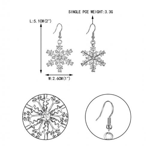 EVER FAITH Austrian Crystal Christmas Earrings - Details