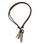 COOLSTEELANDBEYOND Bullet Cross & Leather Cord