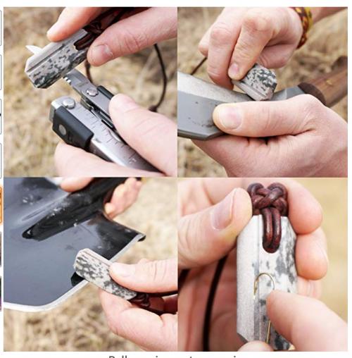 Wazoo Viking Knife Sharpener Necklace - Uses