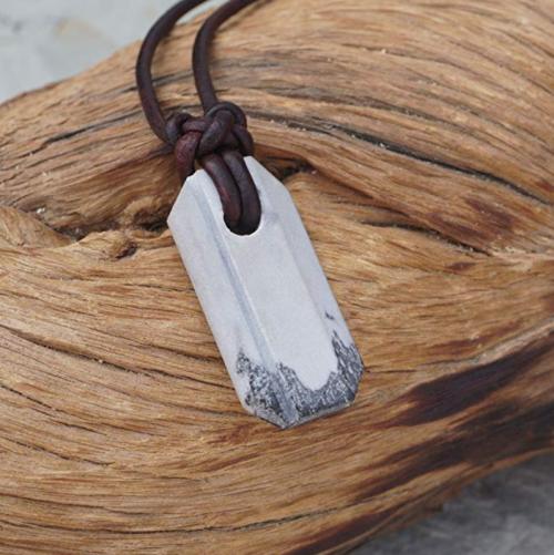 Wazoo Viking Knife Sharpener Necklace - On display