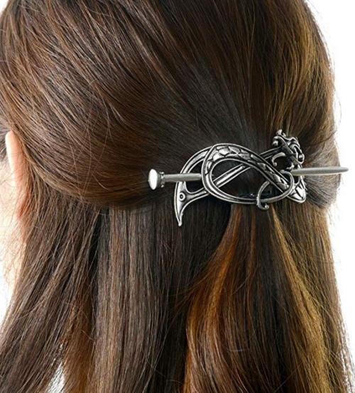 Love Viking Celtic Hair Clip Side View