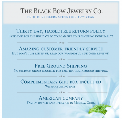 Black Bow Jewelry & Co benefits
