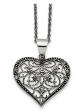 Black Bow Jewelry & Co. Marcasite Heart Necklace