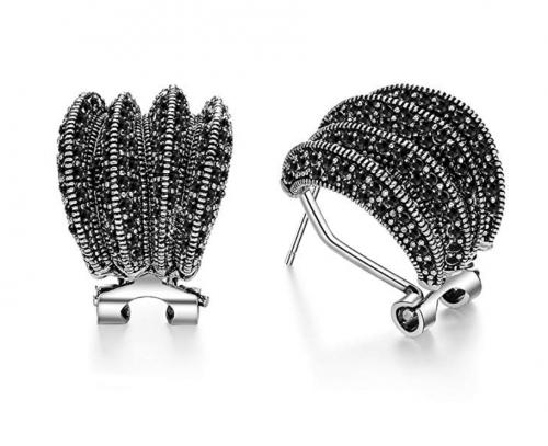 Mytys Marcasite Stud Earrings