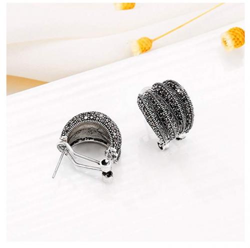 Mytys Marcasite Stud Earrings on Display