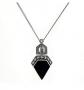 Gemondo Marcasite & Black Onyx Art Deco Necklace