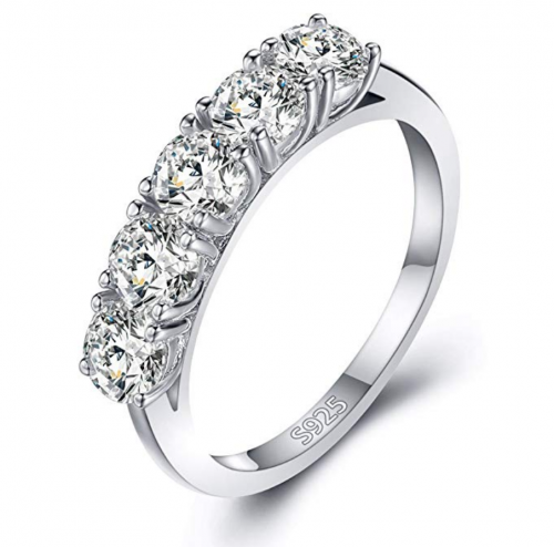 Mozume Five Stone Round Cut Ring