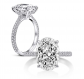 AINUOSHI 925 Sterling Silver CZ Ring
