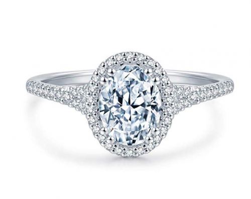 Hafeez Center Micropave Halo Ring