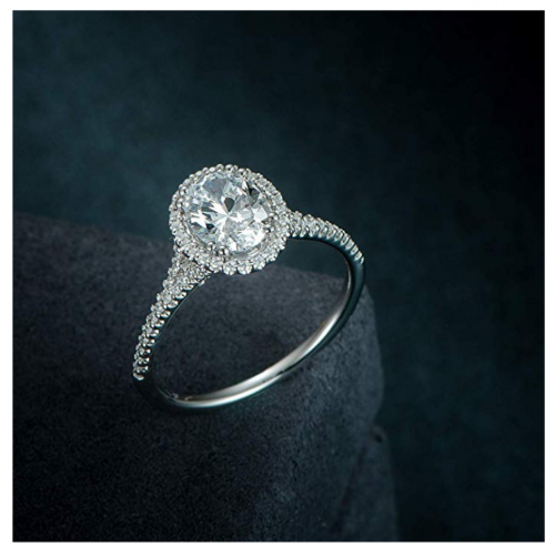 Hafeez Center Micropave Halo Ring Detail