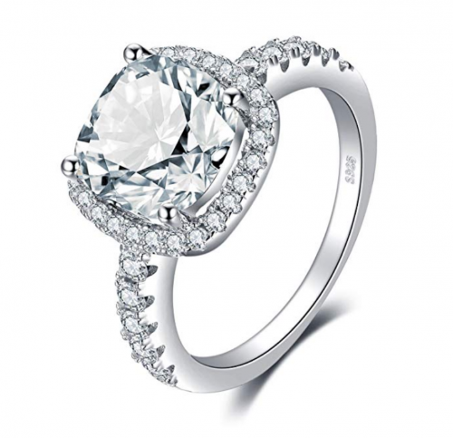 JewelryPalace 3ct Cubic Zirconia Engagement Ring