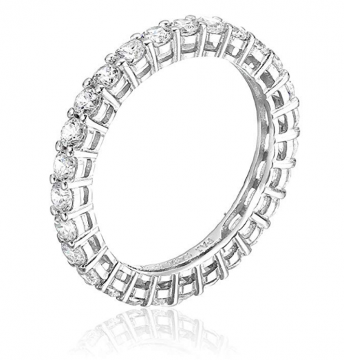 Amazon Essentials Sterling Silver and Cubic Zirconia Band Vertical View