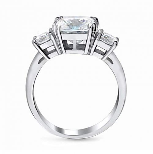 Samie Collection 3-Stone Cubic Zirconia Profile View