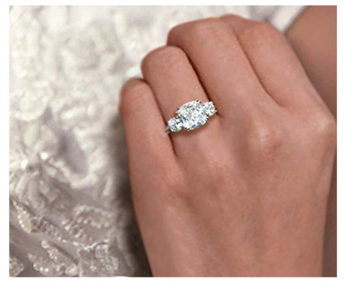 Samie Collection 3-Stone Cubic Zirconia on Hand