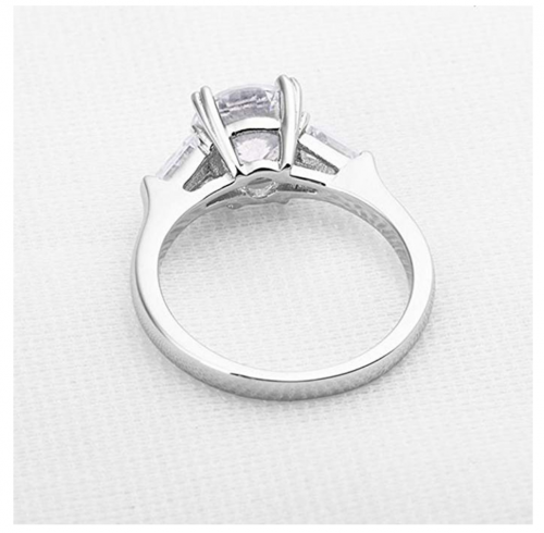 Espere 2 Carat CZ Solitaire Engagement Ring Inner View