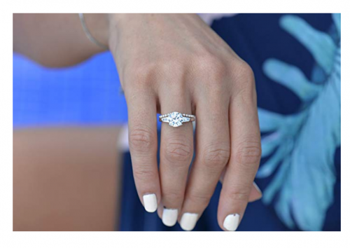 Espere 2 Carat CZ Solitaire Engagement Ring on Hand