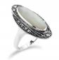 Gemondo Art Deco Mother of Pearl & Marcasite Ring