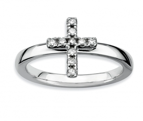 Black Bow Jewelry & Co. Diamond Cross Ring