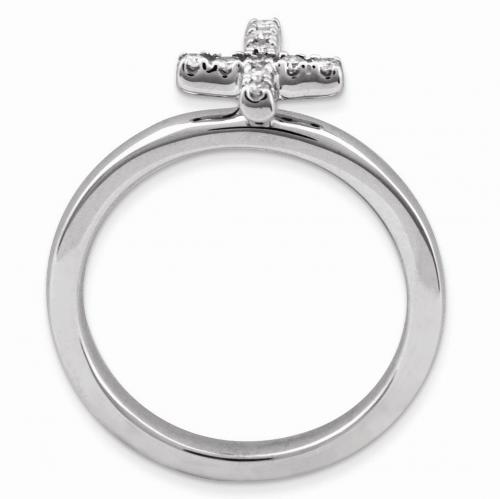 Black Bow Jewelry & Co. Diamond Cross Ring Profile