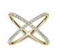 Charles & Colvard Cross Geometric Ring