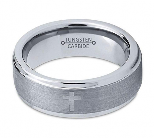 Charming Jewelers Tungsten Wedding Band Horizontal