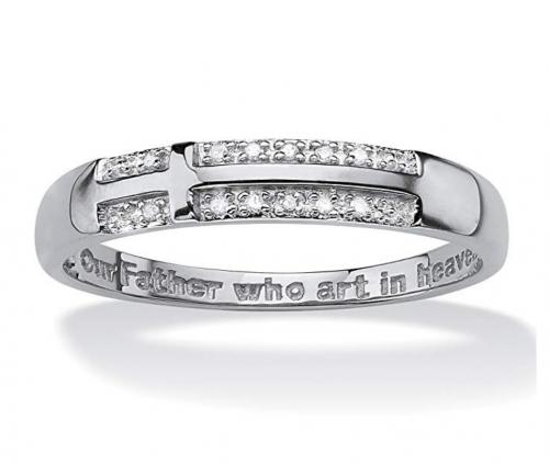 Palm Beach Jewelry Men's 10K White Gold  Ring