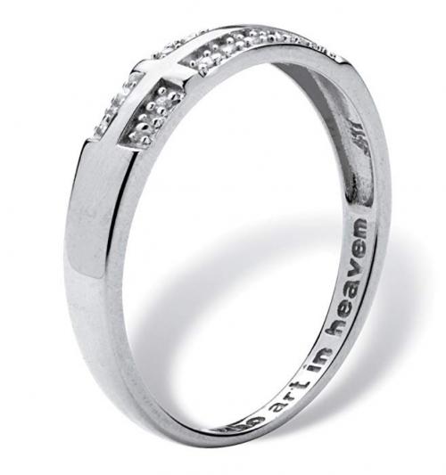 Palm Beach Jewelry Men's 10K White Gold  Ring Profile