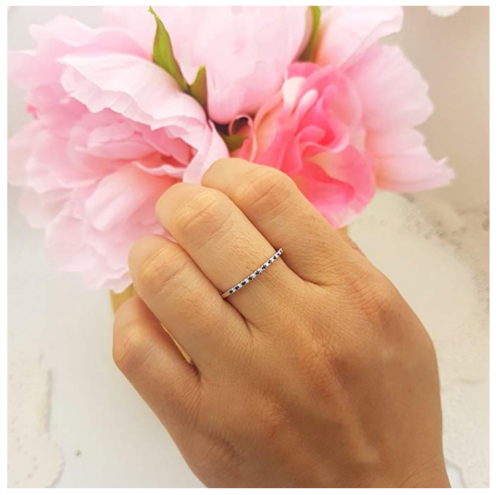 Dazzlingrock Collection Wedding Stackable Ring on Hand