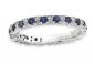 Black Bow Jewelry & Co. Sapphire & Diamond Silver Band