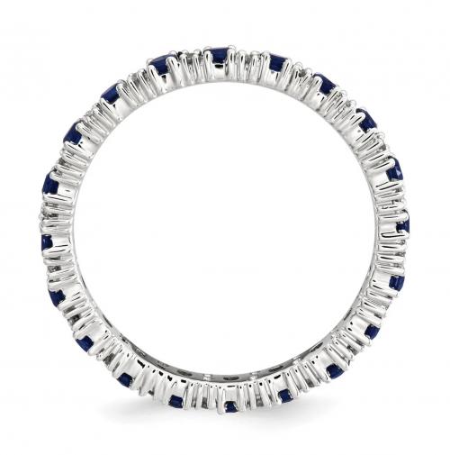 Black Bow Jewelry & Co. Sapphire & Diamond Silver Band Profile