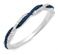 Dazzlingrock Collection Swirl Stackable Ring