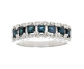 VIR Jewels Sterling Silver Blue Sapphire & Diamond Band