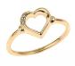 Modern Contemporary Rings 10k Gold Open Heart Ring